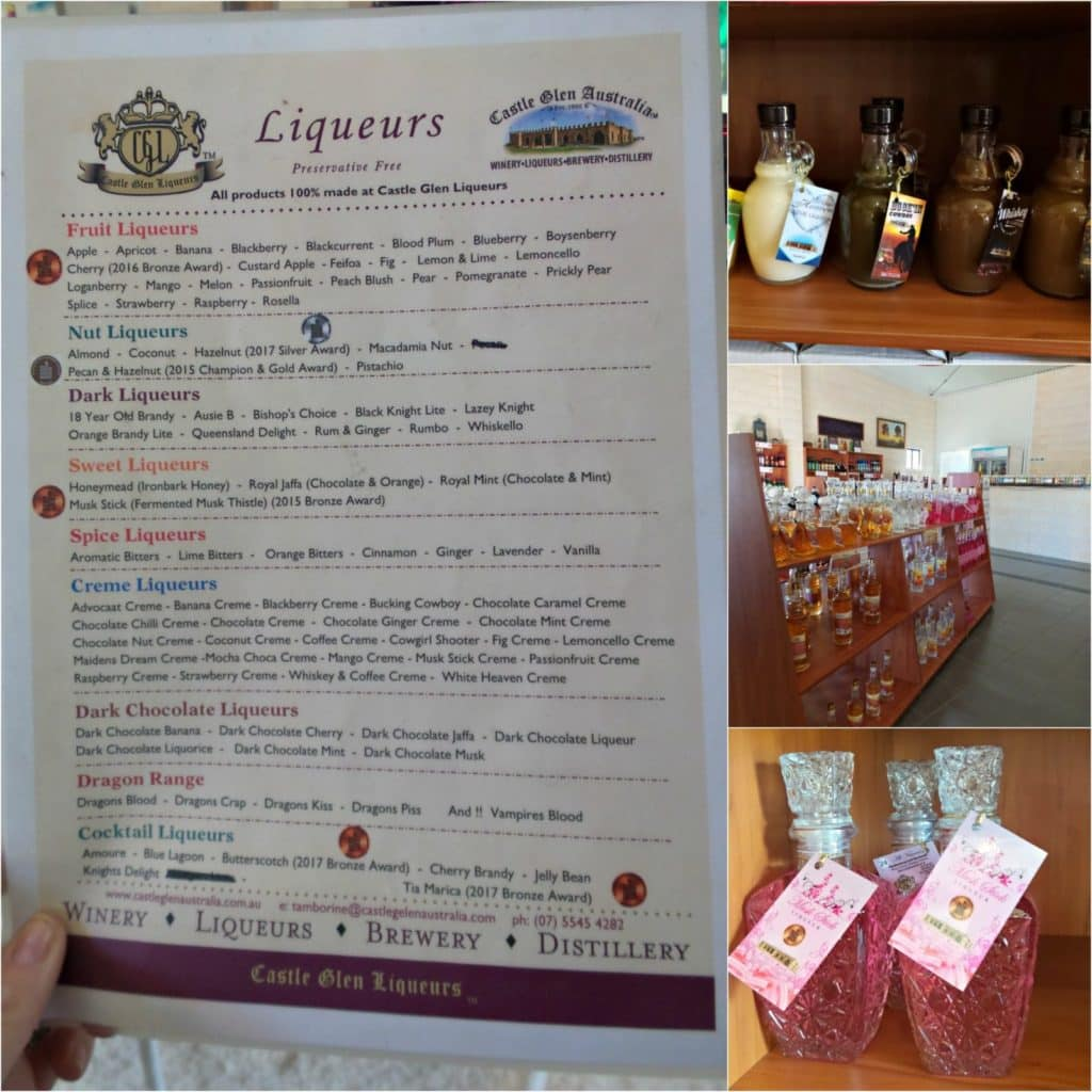 Collage of images from Castle Glen Tamborine Mountain Cellars