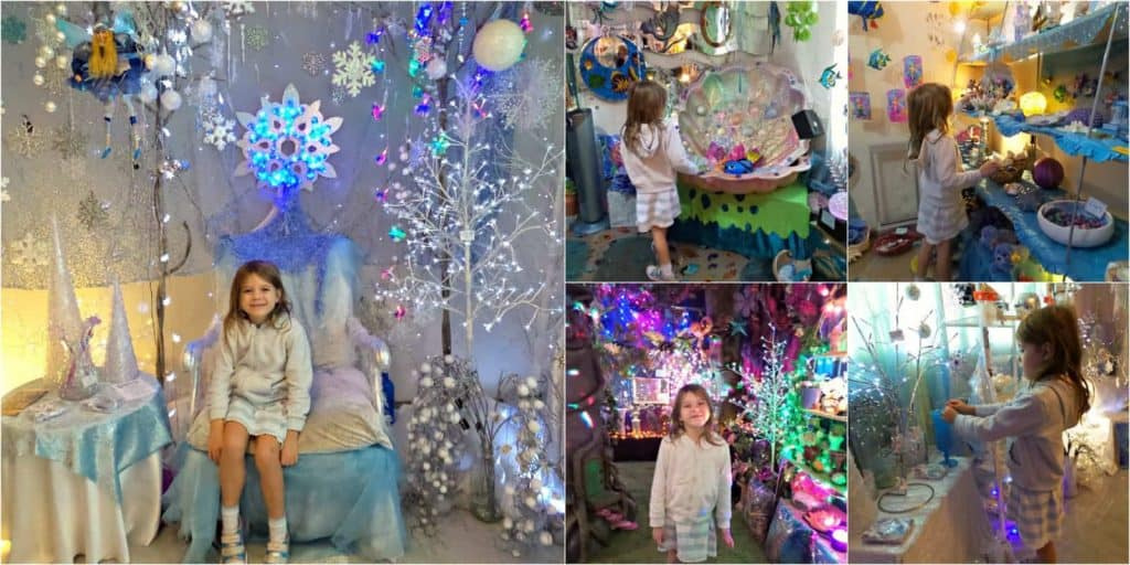 Collage of images of Flights of Fancy fairy shop at Mount Tamborine