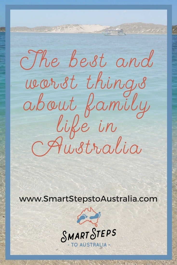 Pinterest image - the best and worst things about living in Australia
