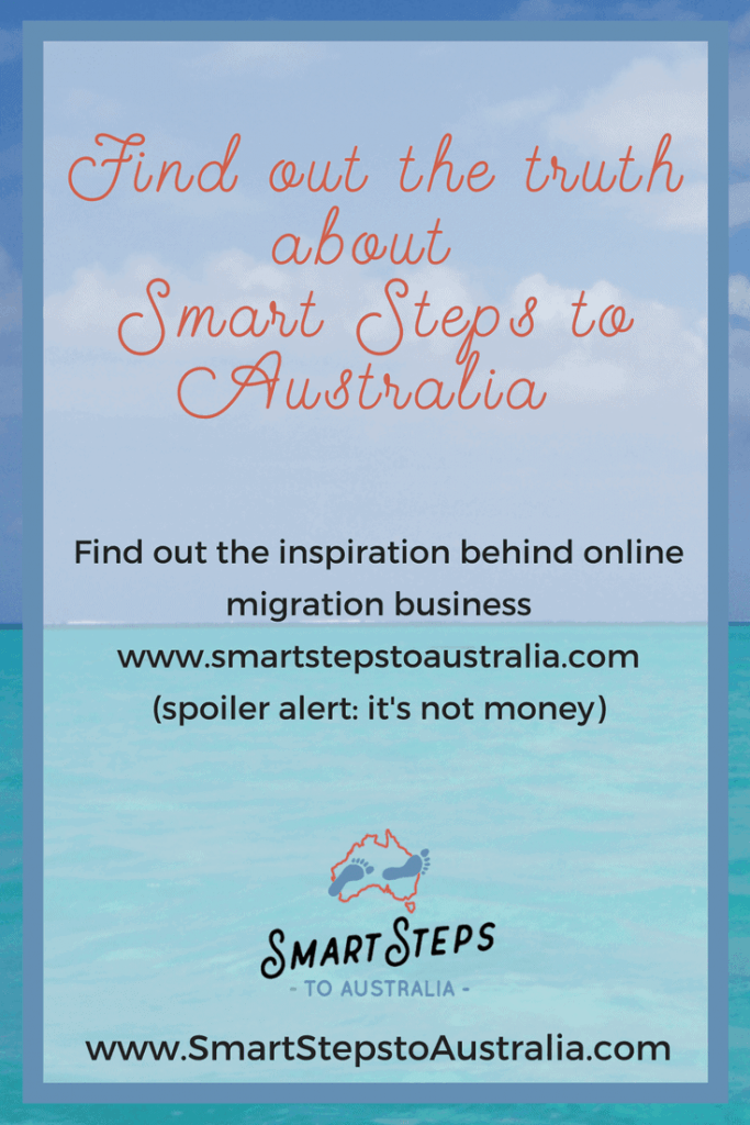 Pinterest image for Smart Steps to Australia
