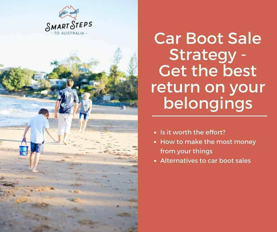 Pinterest images of family in Australia to advertise car boot sale strategy