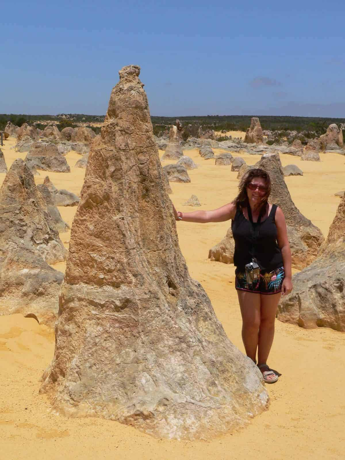 Karen Bleakley at The Pinnacles, Western Australia