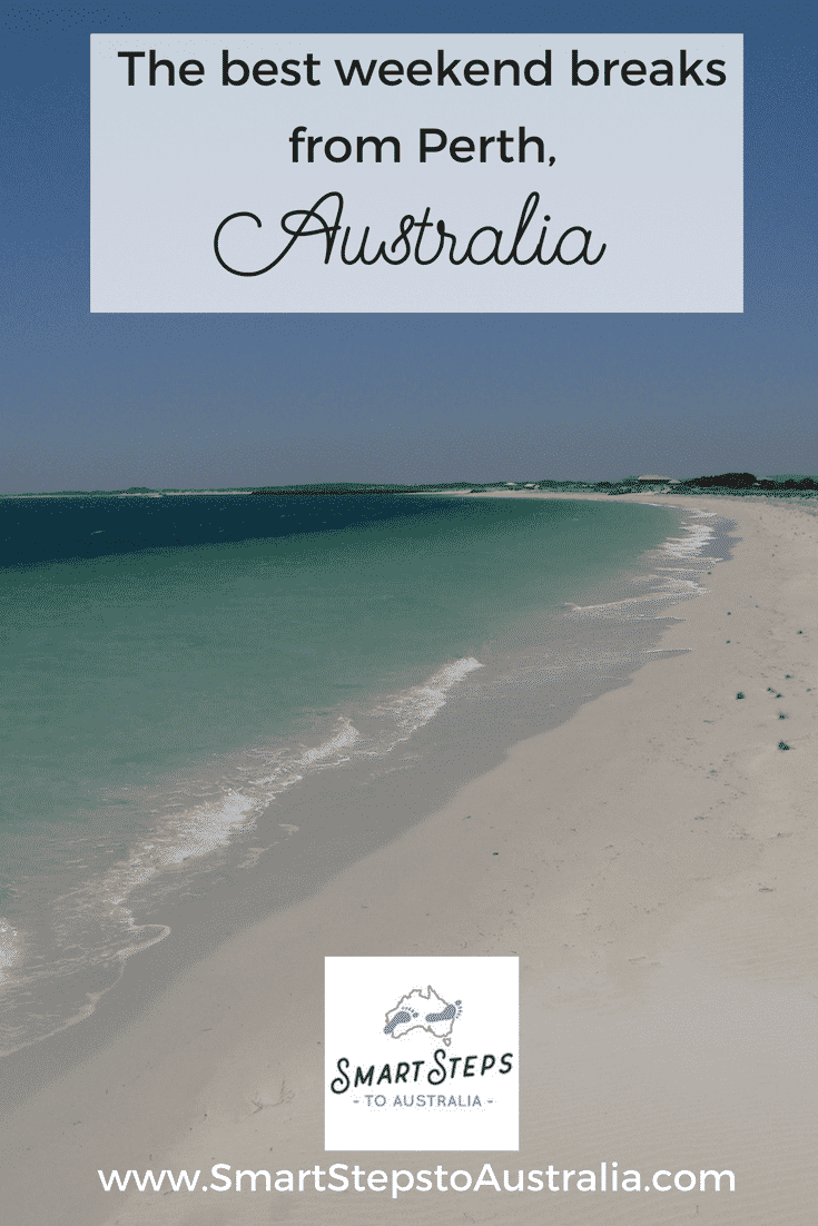 Pinterest image for the best weekend trips from Perth