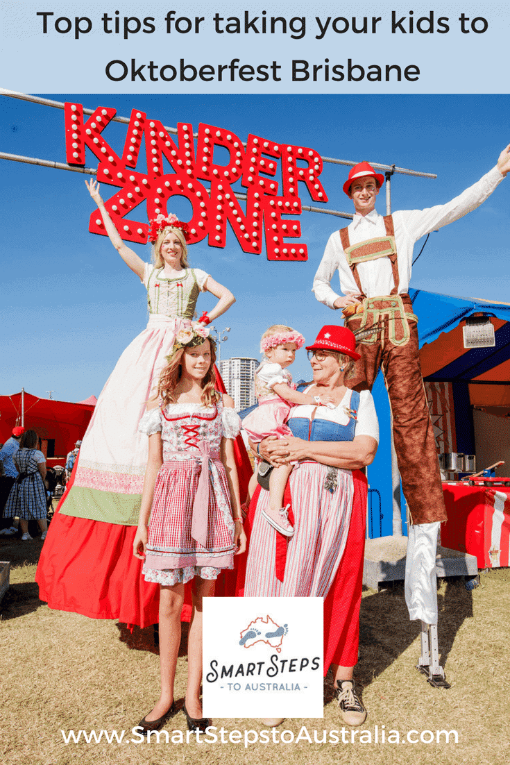 Pinterest image - top tips for attending Oktoberfest Brisbane with kids