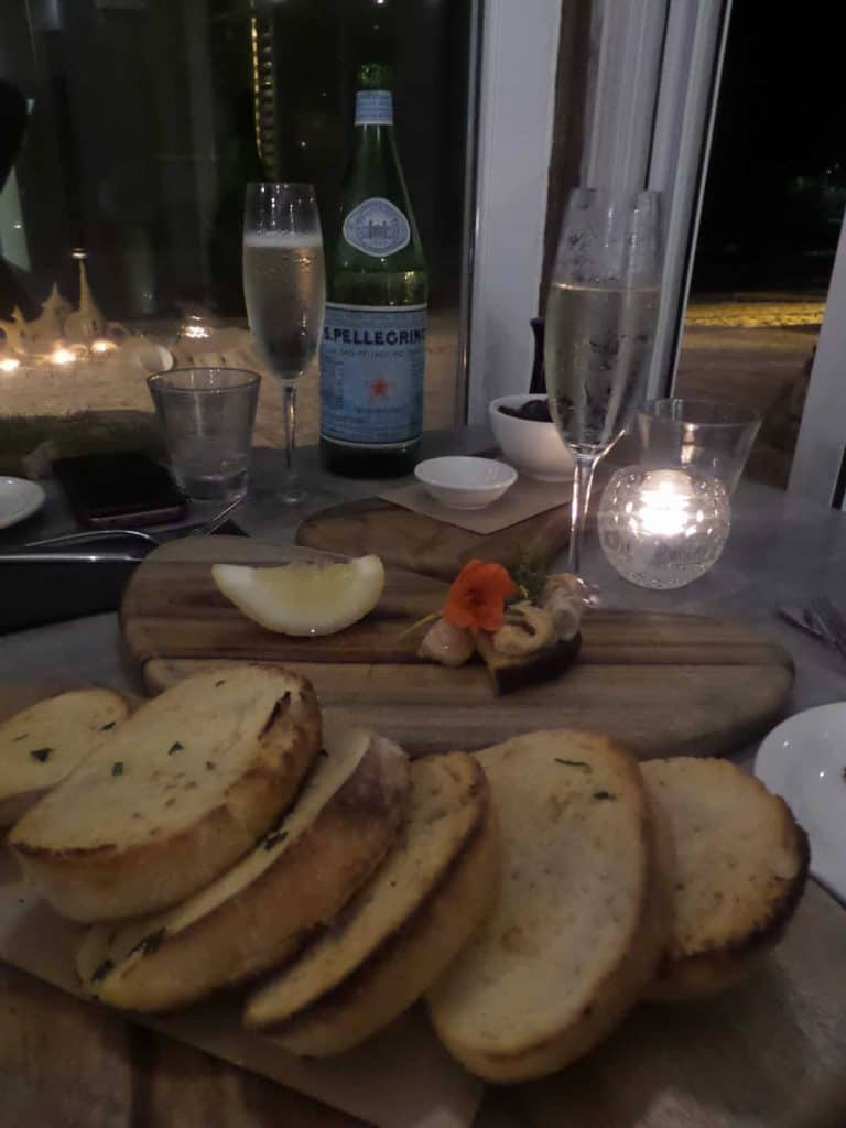 Dinner at Boardwalk Bistro, Noosa, Main Beach