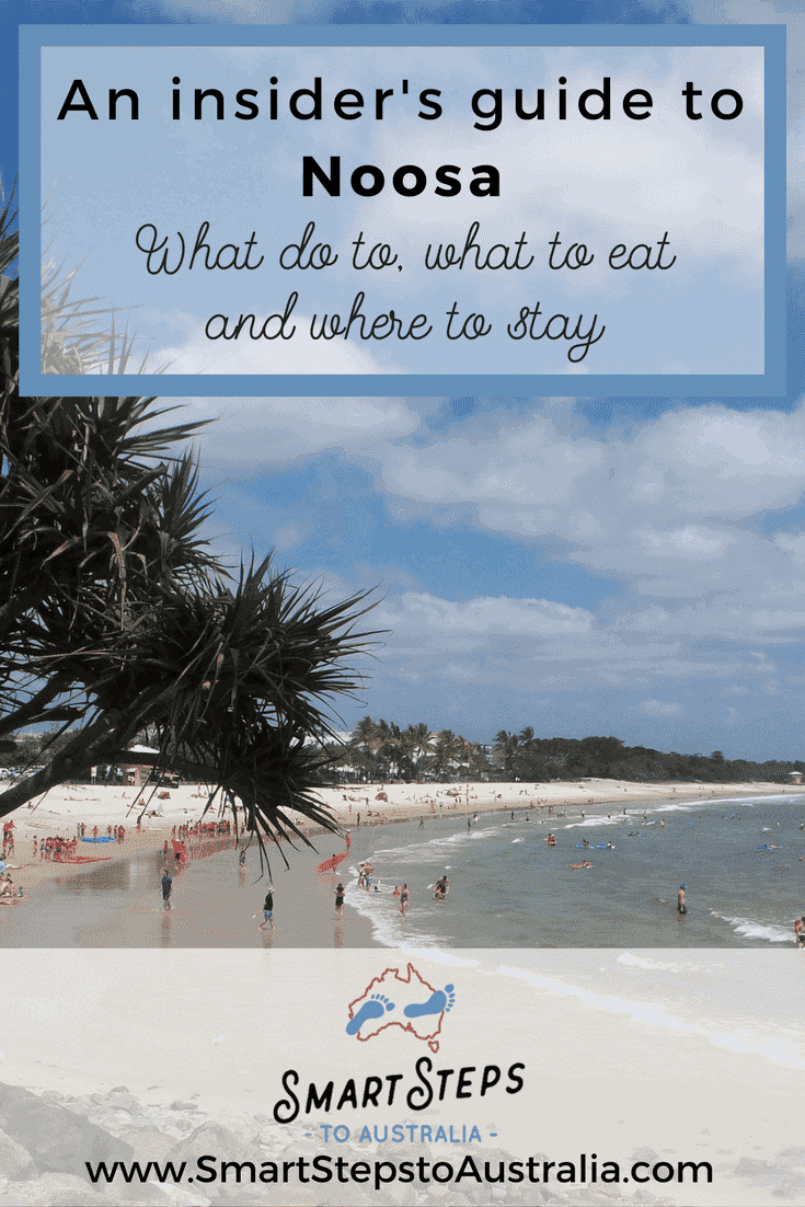 Pinterest image of Main Beach Noosa: What to do in Noosa, Qld