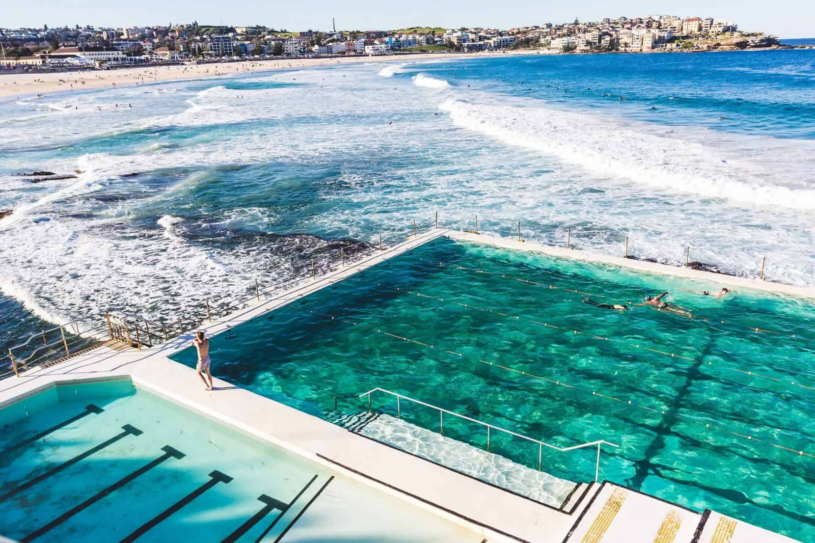 Picture of a pool by a beach in Sydney, Australia