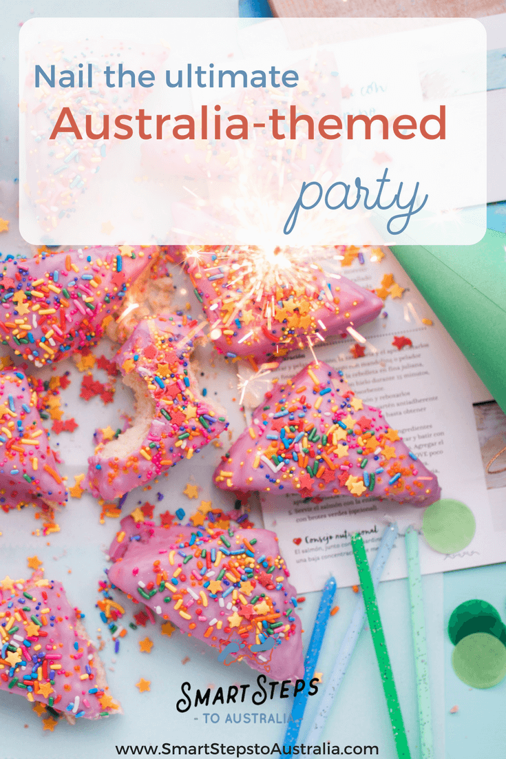 Pinterest image of party food - nail the ultimate Australia themed party