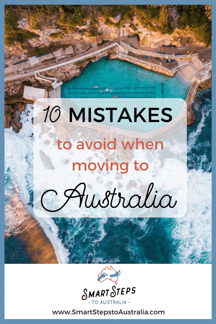 Pinterest image of Bondi Beach to promote post 10 mistakes to avoid when moving to Australia