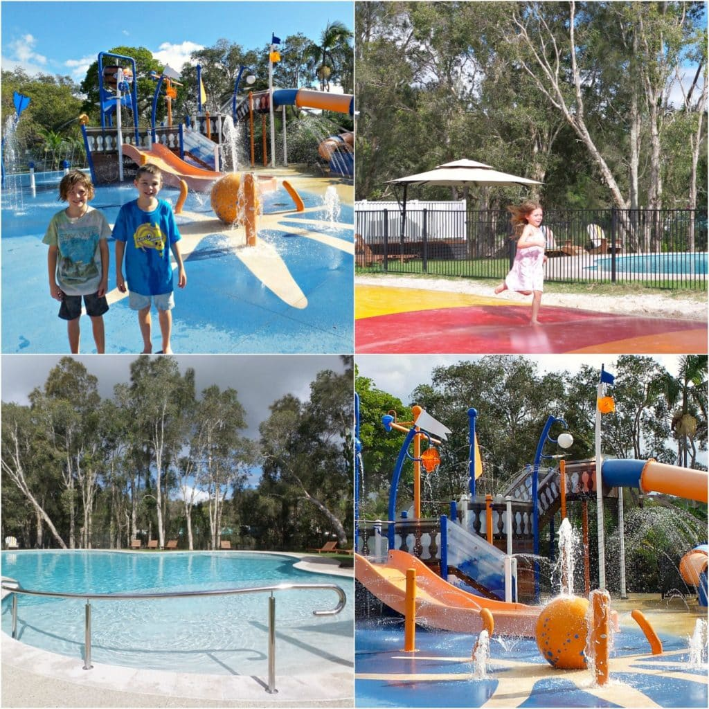 A collage of images of kids at Discover Park Byron Bay