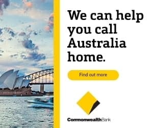 Commonwealth bank advert showing Sydney Opera House