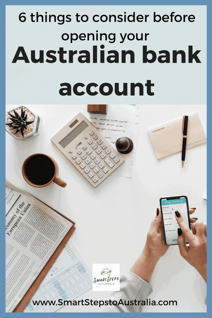 Pinterest: 6 things to consider before opening your Australian bank account from from the UK