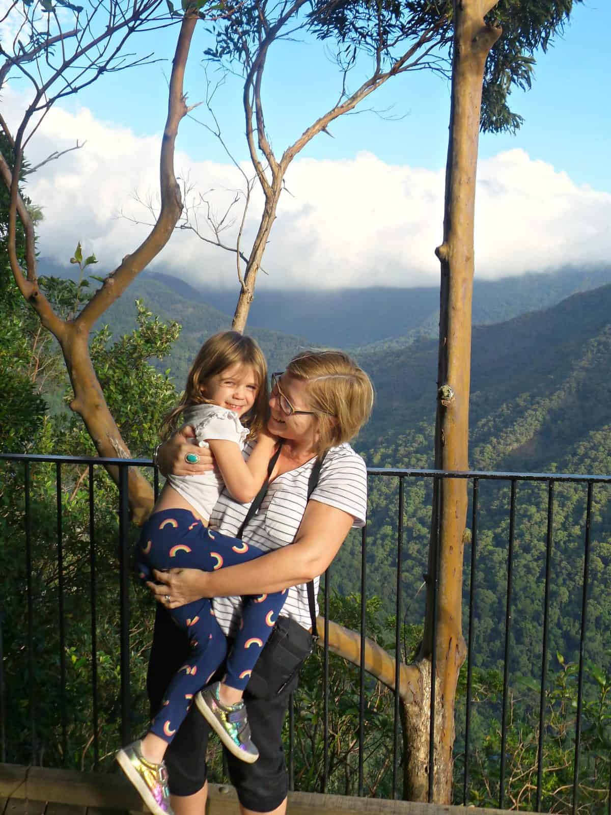 A mother and daughter at O'Reillys Rainforest Retreat