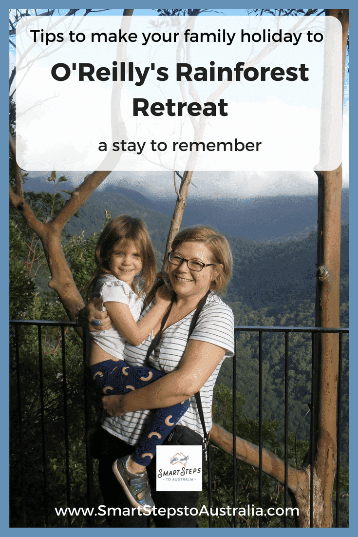 A mum and daughter at O'Reilly's Rainforest Retreat on the Gold Coast