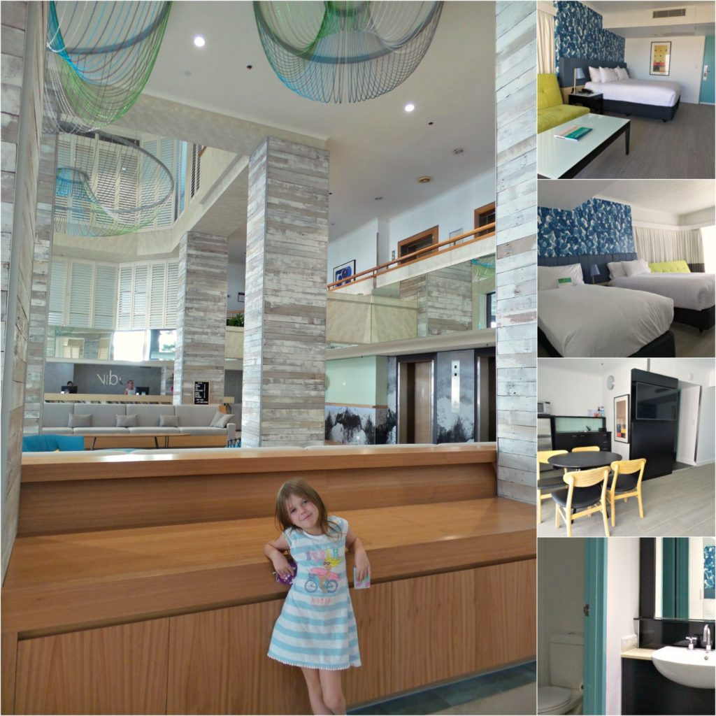 Collage of images of the interior of Vibe Hotels Gold Coast