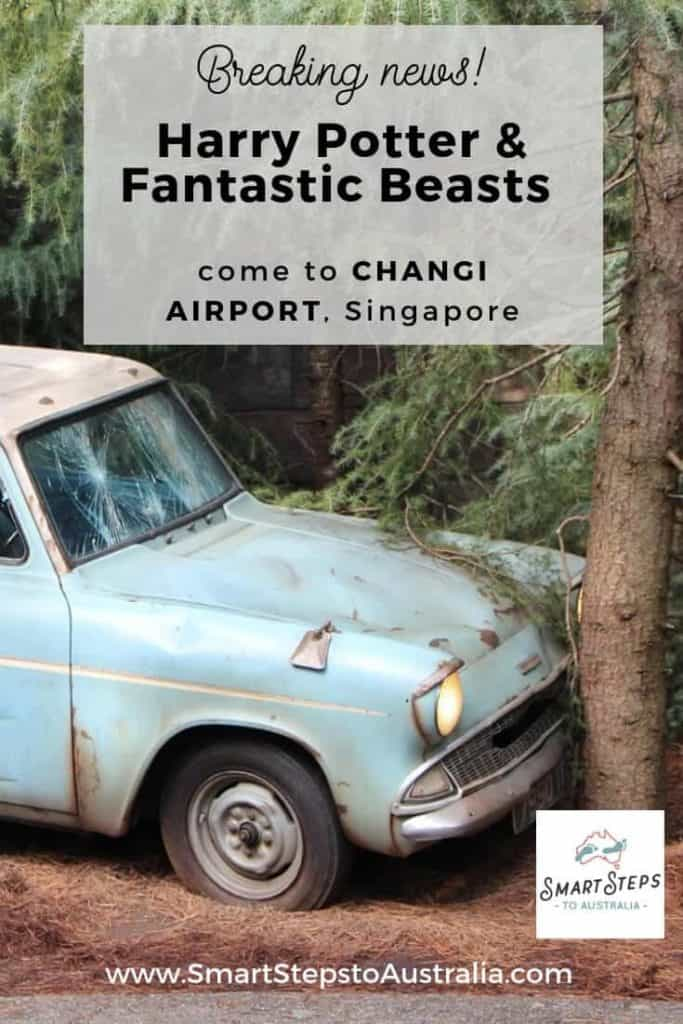 The car out of Harry Potter which is coming to Changi Airport