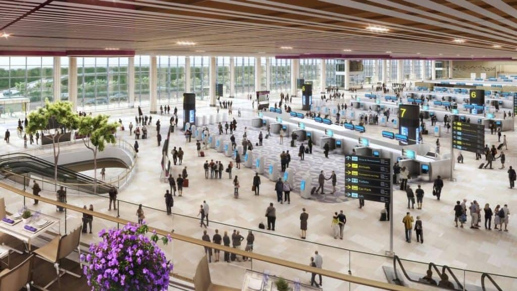 A terminal at Changi Airport Singapore