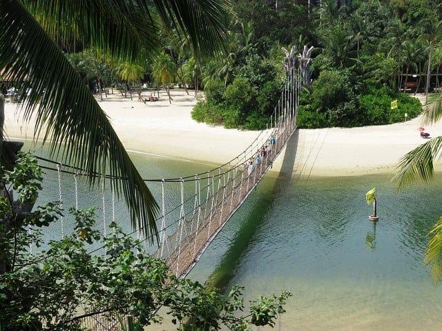 A beach at Sentosa Island Singapore