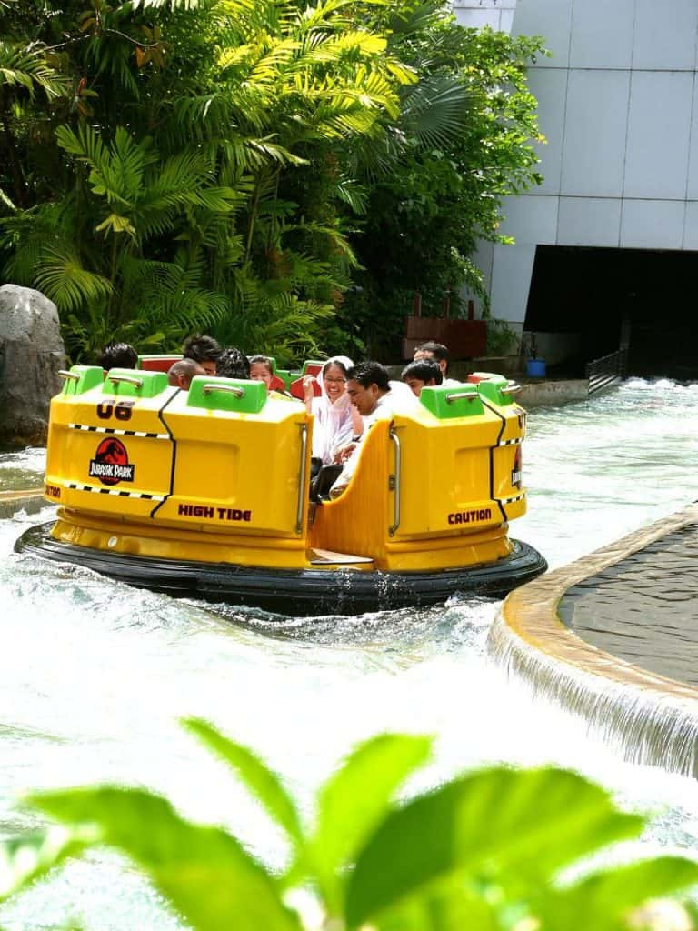 A ride at Universal Studios Singapore