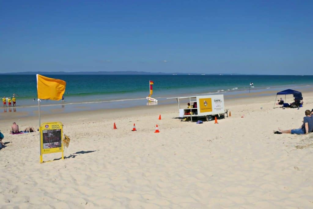 An Australian beach in summer