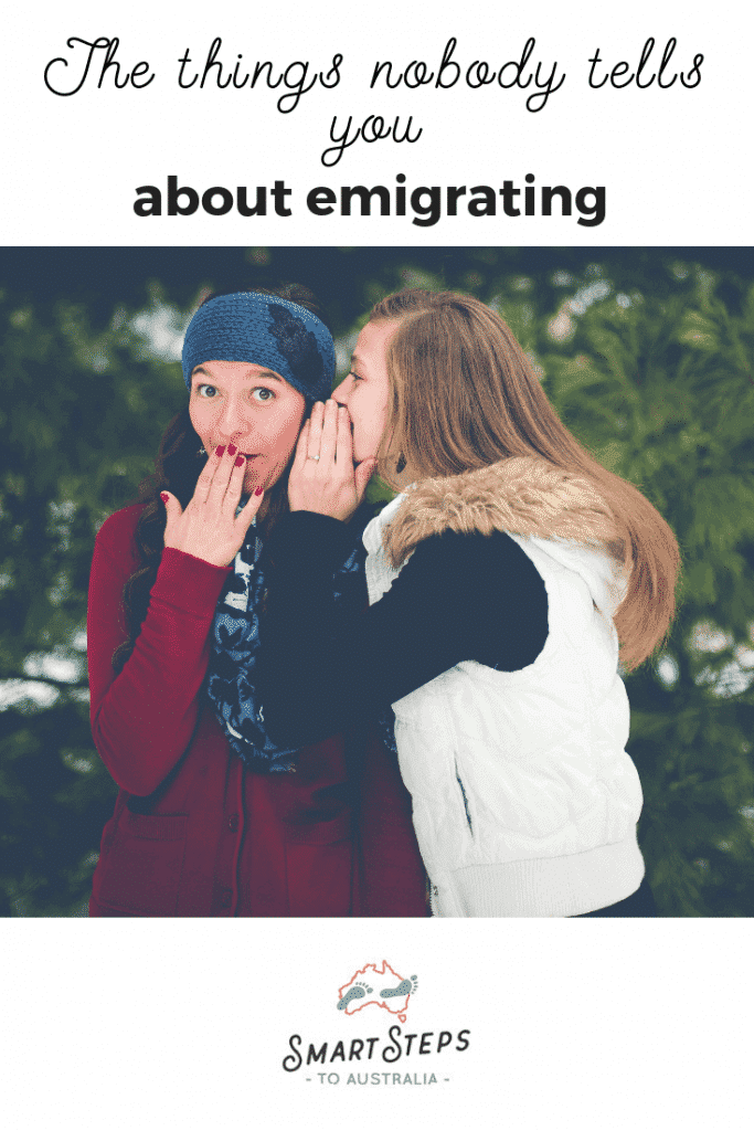 Pinterest image - the things nobody tells you about emigrating when moving to Australia