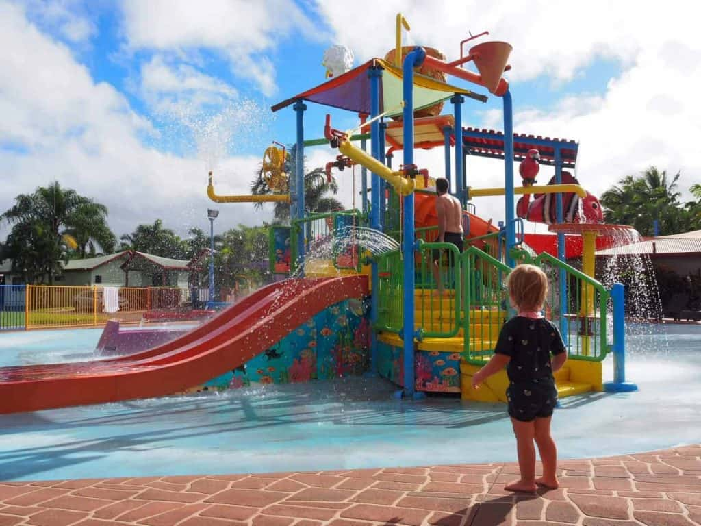 The waterpark at Cairns Coconut Holiday Resort