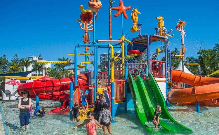 The water park at Oaks Oasis at Caloundra Queensland