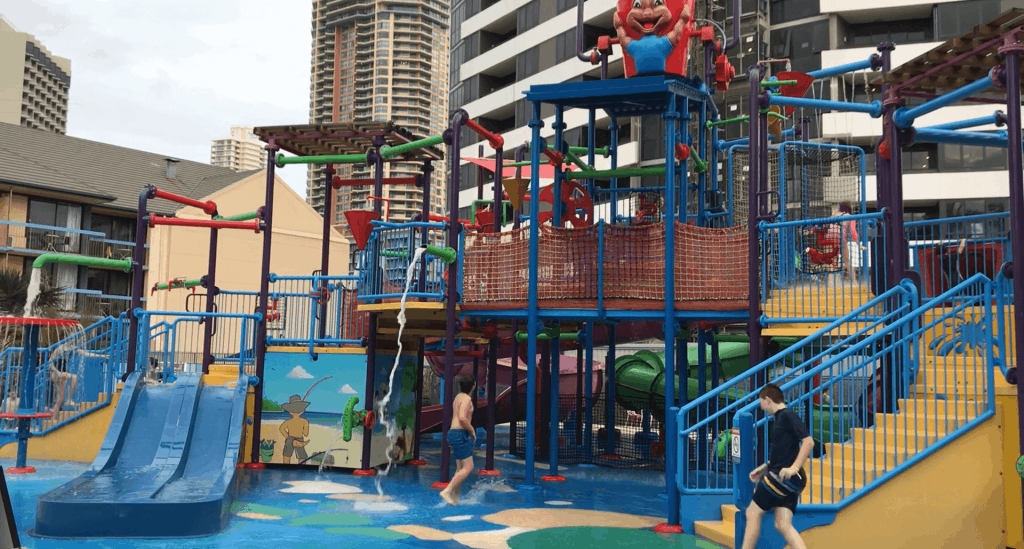 The water park at Paradise Resort on the Gold Coast