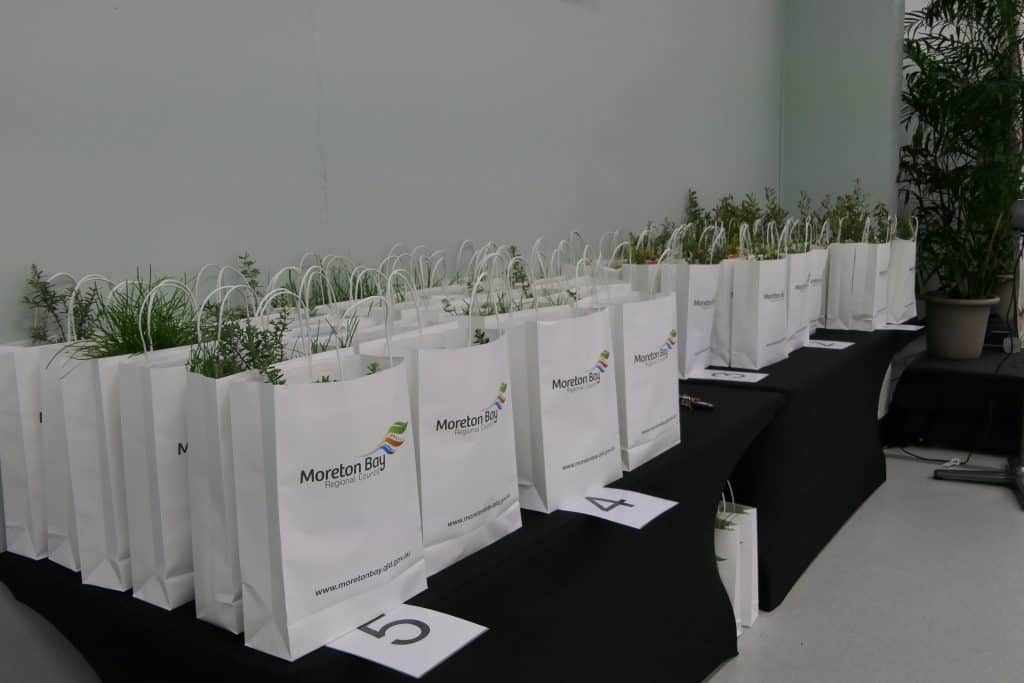 Gift bags at the Australian citizenship ceremony event
