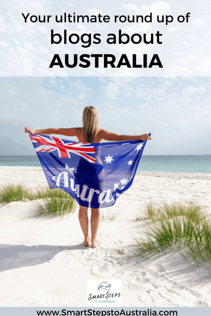 A person with an Australia flag on a beach