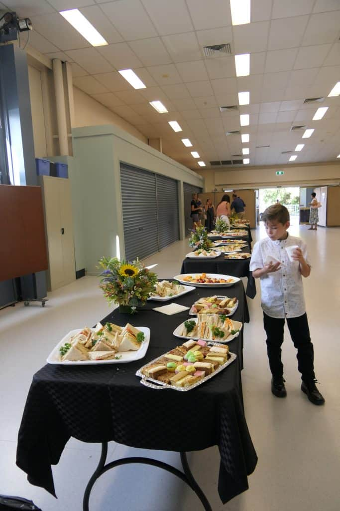 The food at the Australian citizenship ceremony event