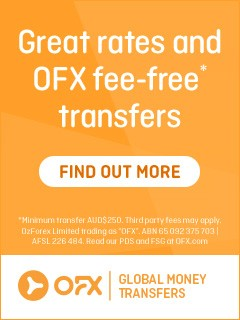 OFX banner for money transfers