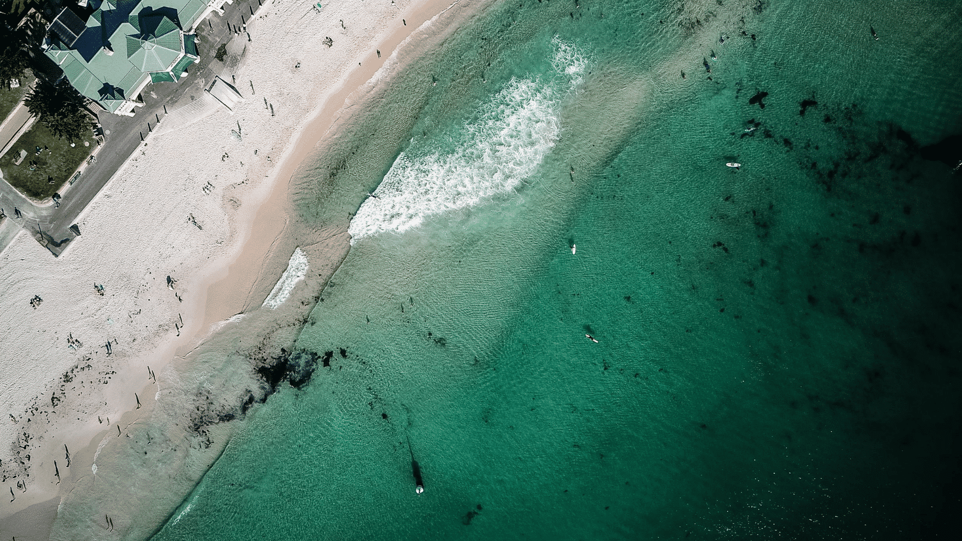 A beach in Australia from above