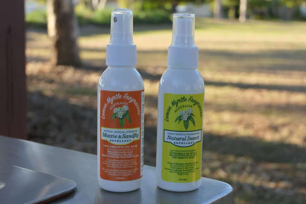 Lemon Myrtle mosquito repellent bottles