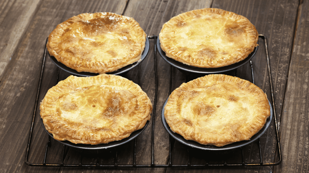 Four meat pies