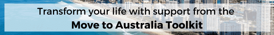 Banner: Trasnform your life with support from the Move to Australia Toolkit