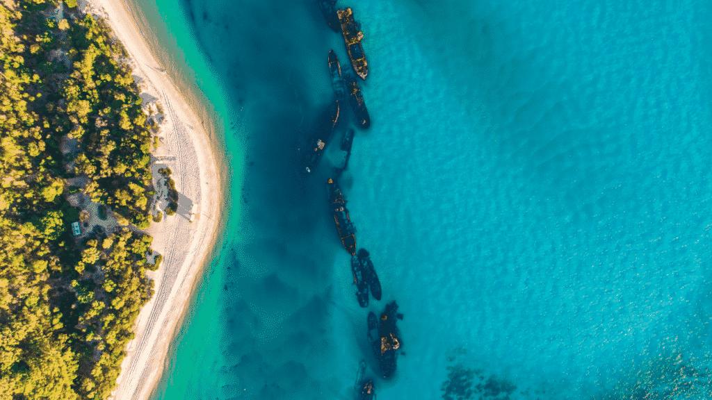 A aerial shot of Australia