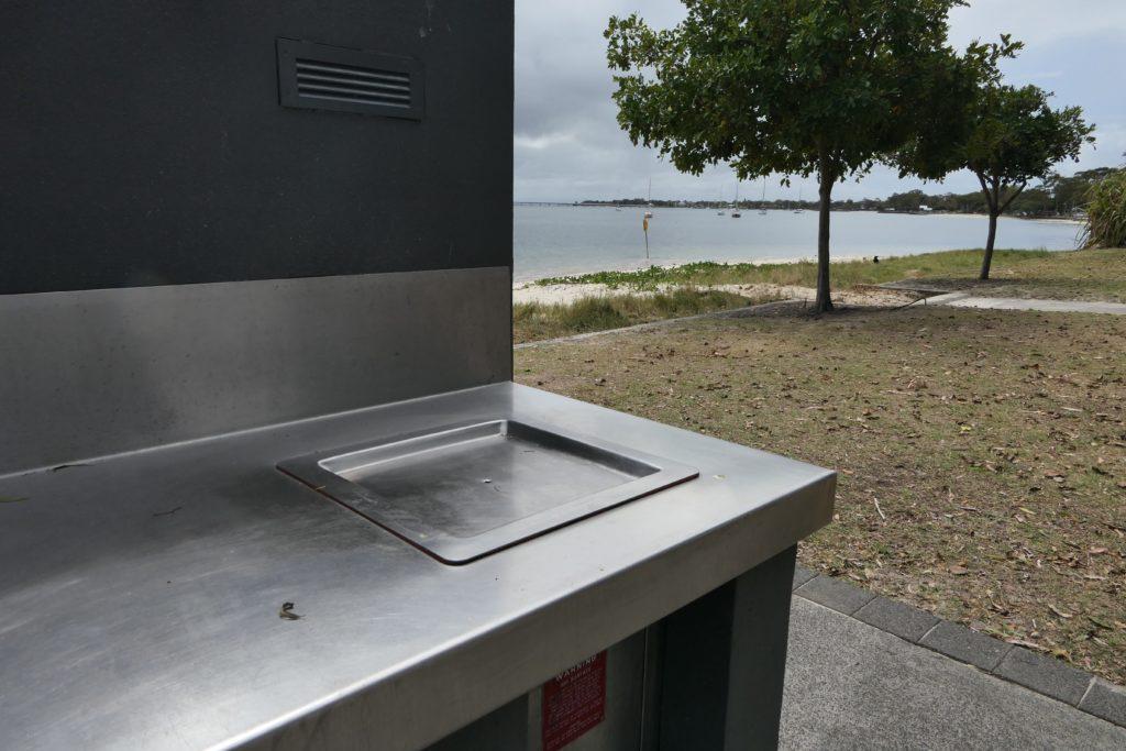 A public BBQ point in Australia by the beach